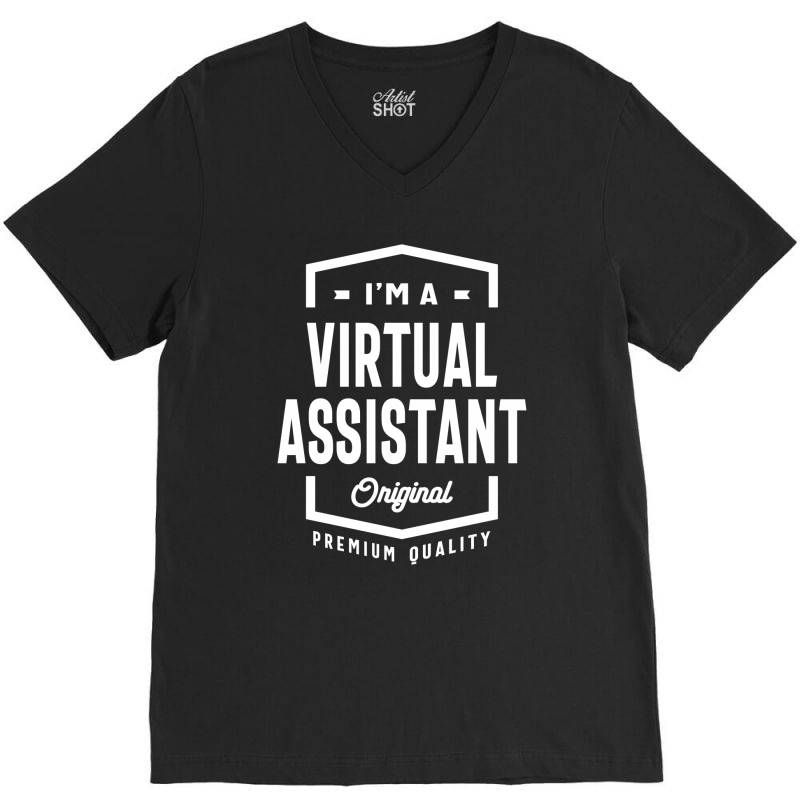 Virtual Assistant Gift Funny Job Title Profession Birthday Idea V-neck Tee | Artistshot