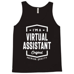 Virtual Assistant Gift Funny Job Title Profession Birthday Idea Tank Top | Artistshot