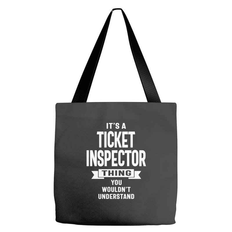 Ticket Inspector Gift Funny Job Title Profession Birthday Idea Tote Bags   Artistshot