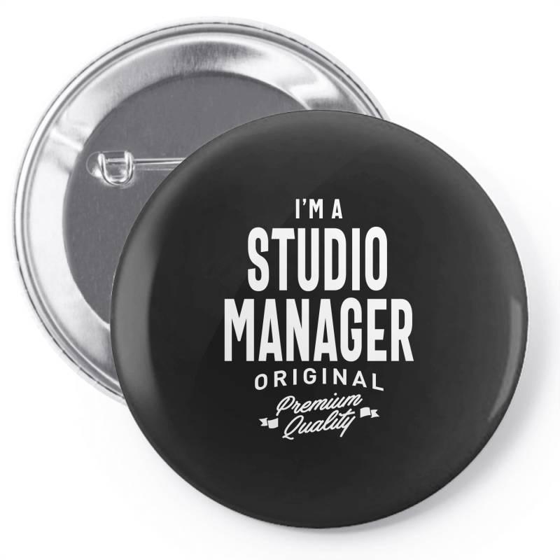 Studio Manager Gift Funny Job Title Profession Birthday Idea Pin-back Button | Artistshot