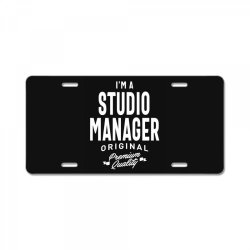 Studio Manager Gift Funny Job Title Profession Birthday Idea License Plate | Artistshot