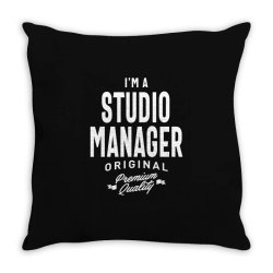 Studio Manager Gift Funny Job Title Profession Birthday Idea Throw Pillow | Artistshot