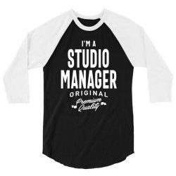 Studio Manager Gift Funny Job Title Profession Birthday Idea 3/4 Sleeve Shirt | Artistshot