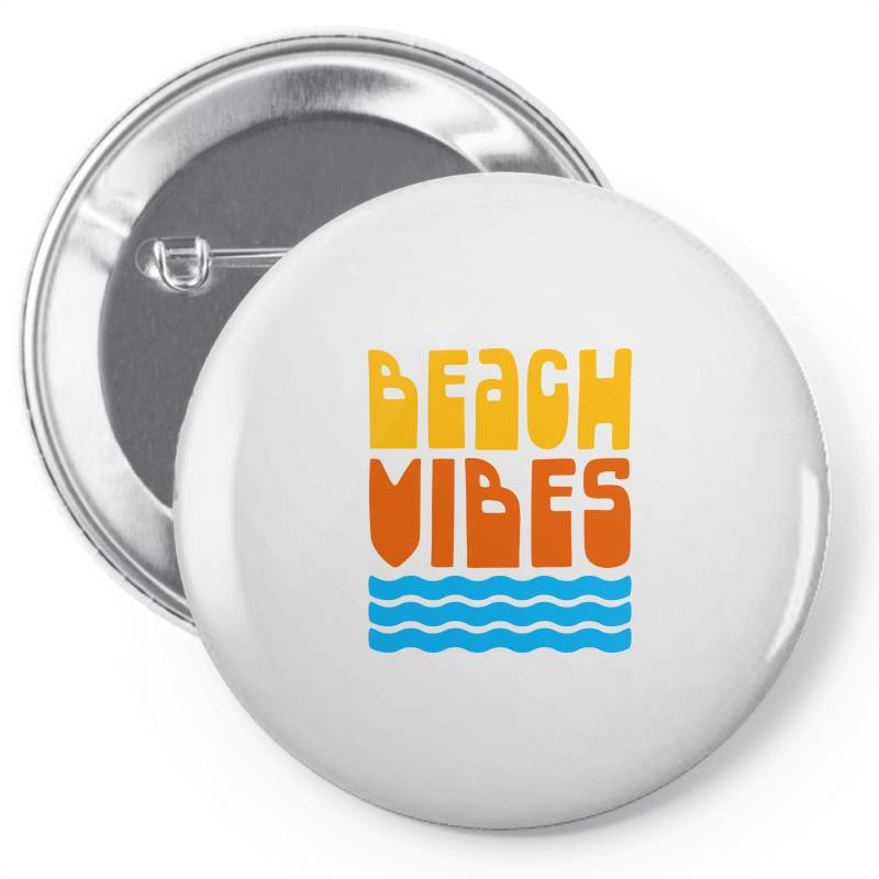 Beach Vibes Pin-back Button | Artistshot