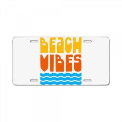 Beach Vibes License Plate | Artistshot