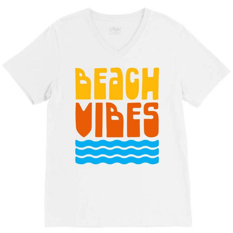 Beach Vibes V-neck Tee | Artistshot