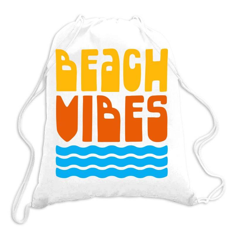 Beach Vibes Drawstring Bags | Artistshot