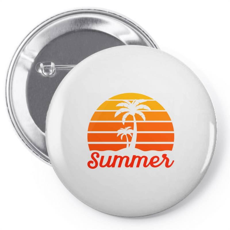 Summer Beach Palm Tree Pin-back Button | Artistshot
