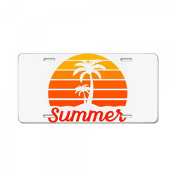 Summer Beach Palm Tree License Plate | Artistshot