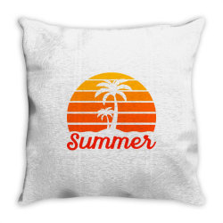 Summer Beach Palm Tree Throw Pillow | Artistshot