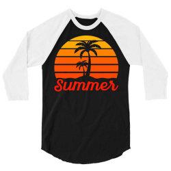 Summer Beach Palm Tree 3/4 Sleeve Shirt | Artistshot