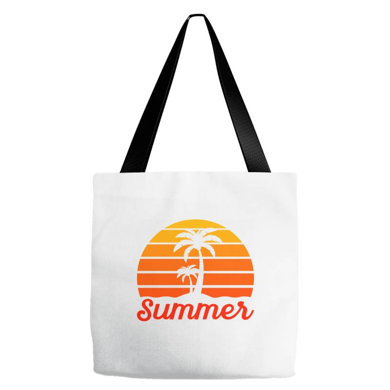 Summer Beach Palm Tree Tote Bags | Artistshot