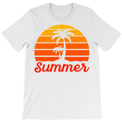 Summer Beach Palm Tree T-shirt Designed By Ombredreams