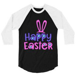 Happy Easter 3/4 Sleeve Shirt   Artistshot