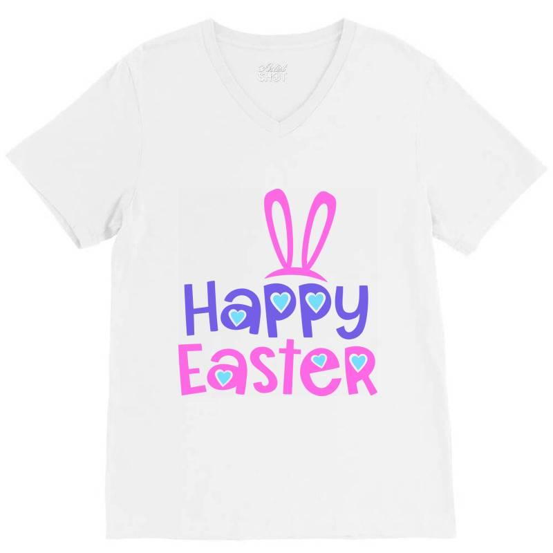Happy Easter V-neck Tee   Artistshot