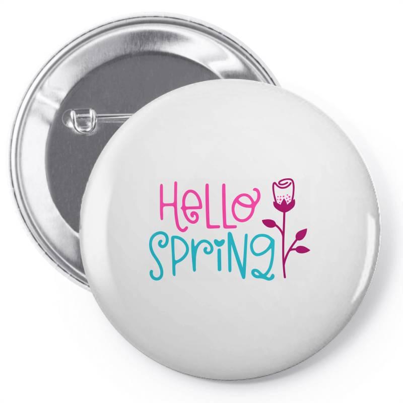 Hello Spring Pin-back Button | Artistshot