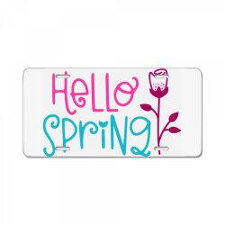 Hello Spring License Plate | Artistshot