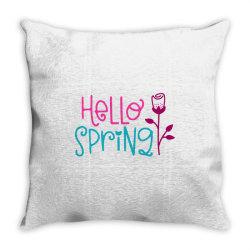 Hello Spring Throw Pillow | Artistshot