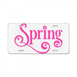 Spring License Plate   Artistshot