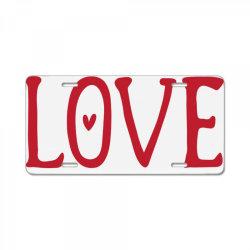 Love License Plate | Artistshot