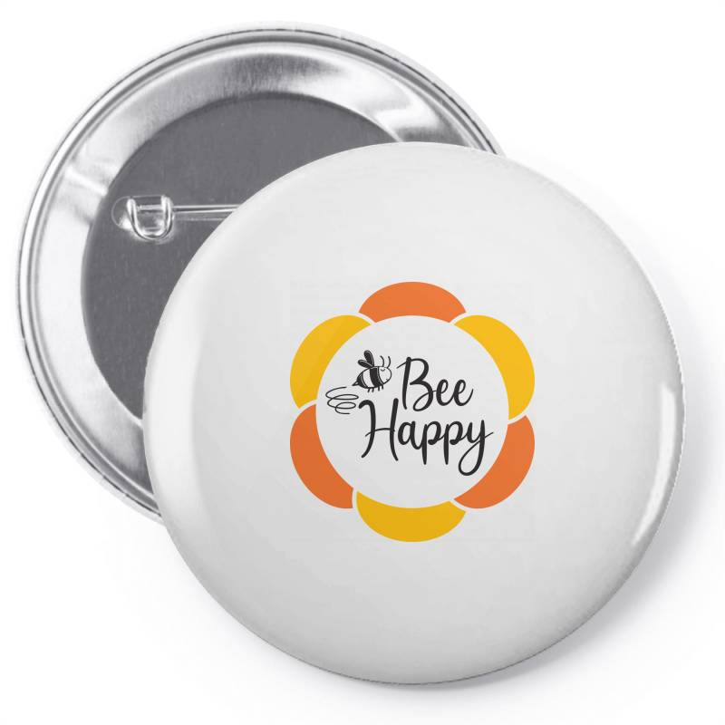 Bee Happy Pin-back Button | Artistshot
