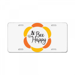 Bee Happy License Plate | Artistshot