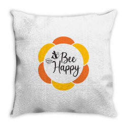 Bee Happy Throw Pillow | Artistshot