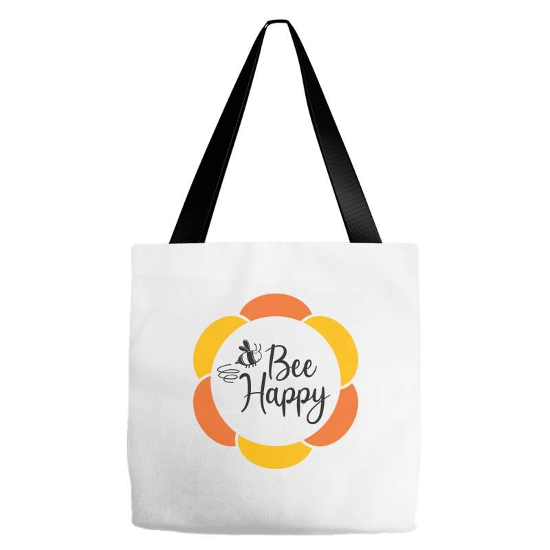 Bee Happy Tote Bags   Artistshot