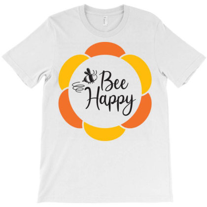 Bee Happy T-shirt Designed By Ombredreams