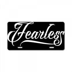 Fearless License Plate | Artistshot