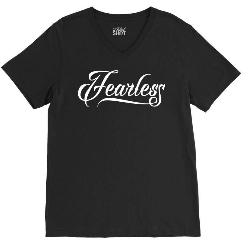 Fearless V-neck Tee | Artistshot