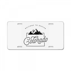 welcome to colorado License Plate | Artistshot
