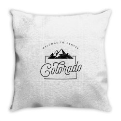 welcome to colorado Throw Pillow | Artistshot