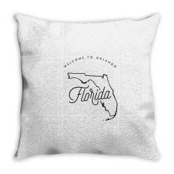welcome to florida Throw Pillow | Artistshot