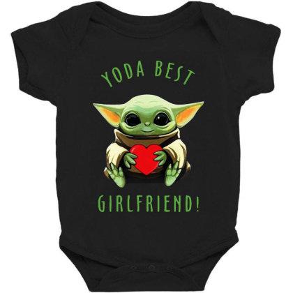 Baby Yoda Hug Heart Best Girlfriend Baby Bodysuit