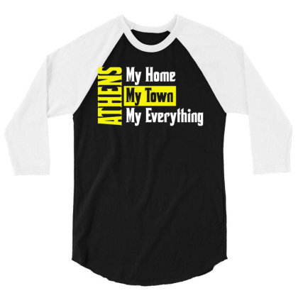 Athens Greece 3/4 Sleeve Shirt Designed By L4l4pow