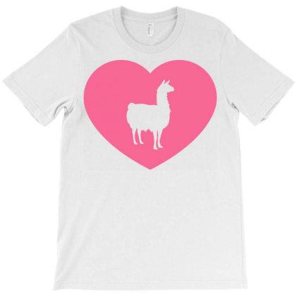 Llama Heart T-shirt Designed By Ombredreams