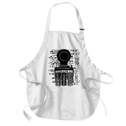 Books Library Stamp Medium-length Apron Designed By L4l4pow