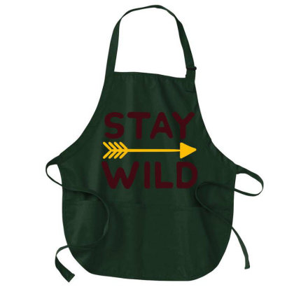 Stay Wild Medium-length Apron Designed By Ombredreams