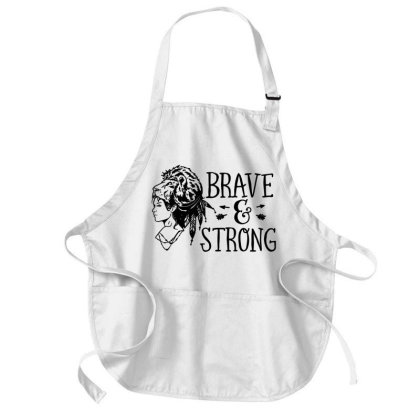 Brave And Strong Masks Medium-length Apron Designed By L4l4pow