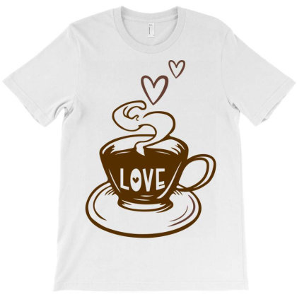 Love Coffee T-shirt Designed By Ombredreams