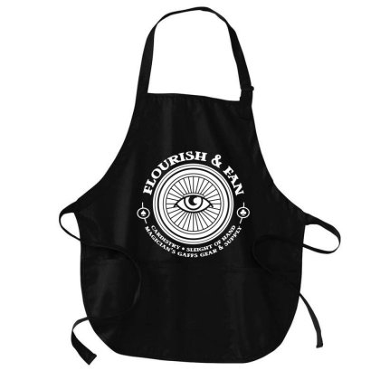 Cardistry Sleight Of Hand Flourish And Fan All Seeing Eye Medium-length Apron Designed By L4l4pow