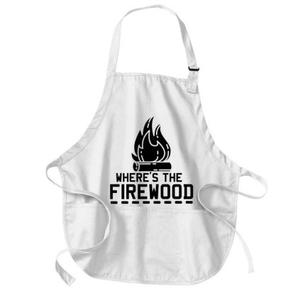 Camping   Where's The Firewood Medium-length Apron Designed By L4l4pow