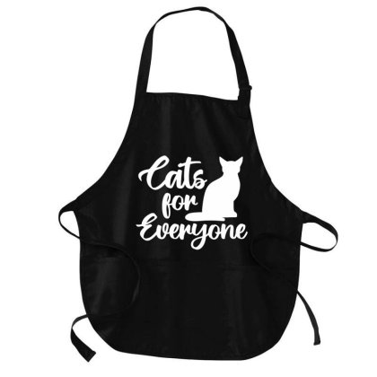 Cats For Everyone Medium-length Apron Designed By L4l4pow