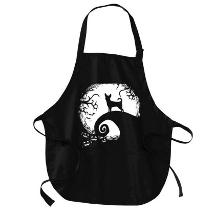 Chihuahua And Moon Halloween Costume Medium-length Apron Designed By L4l4pow
