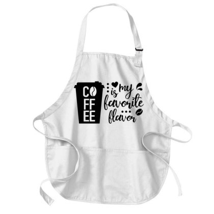 Coffee Favorite Flavor Medium-length Apron Designed By Chiks