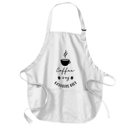 Coffee Is My Diet Medium-length Apron Designed By Chiks
