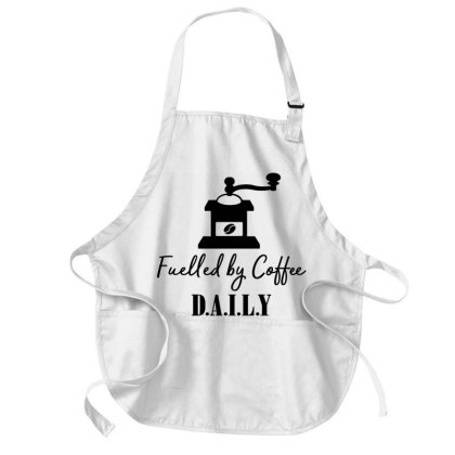 Fuelled By Coffee Daily Medium-length Apron Designed By Chiks
