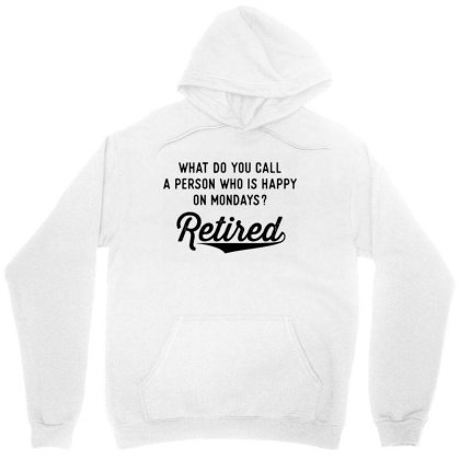 Retirement Gifts For Men Happy On Mondays Unisex Hoodie Designed By Blees Store