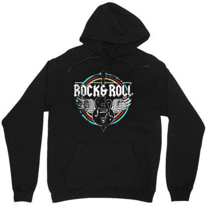 Rock & Roll Guitar Wings Music Unisex Hoodie Designed By Blees Store